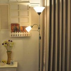 YWXLight Folding Wrought Iron Floor Lamp (Black)