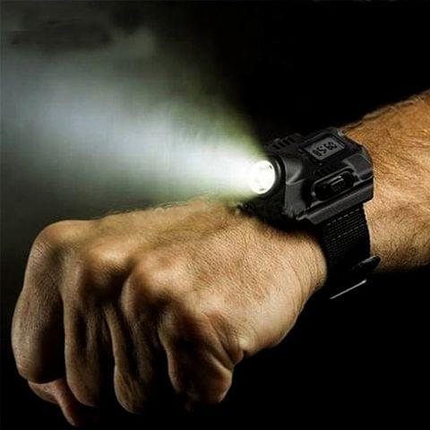 YWXLight Portable Multifunctional Super Bright USB Rechargeable Wrist Watch Torch Light LED Flashlight