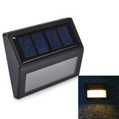 6 LEDs Solar Power IP55 Waterproof Light Sensor Wall Light Deck Lights(Warm Light)