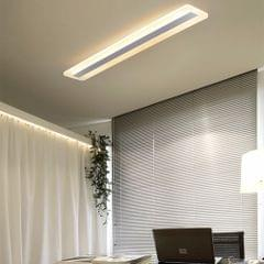 Living Room Lamp Rectangular Simple Modern Atmosphere Creative Hall Study Ceiling Lamp, Size: 40x9cm (Warm White)