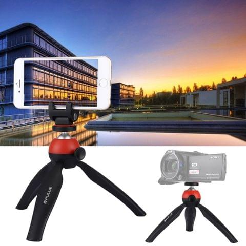 PULUZ Pocket Mini Tripod Mount with 360 Degree Ball Head & Phone Clamp for Smartphones(Red)