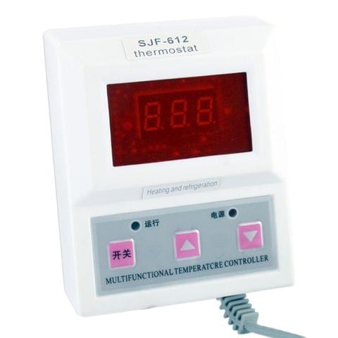 1.4 inch LCD Red Light Intelligent Digital Thermostat / Temperature Controller(White)