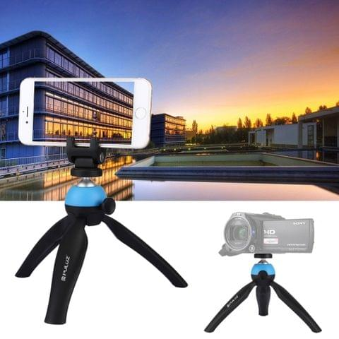 PULUZ Pocket Mini Tripod Mount with 360 Degree Ball Head & Phone Clamp for Smartphones(Blue)                                               ()