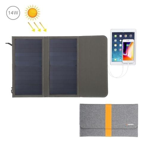 HAWEEL 14W Foldable Solar Panel Charger with 5V / 2.1A Max Dual USB Ports                                               ()