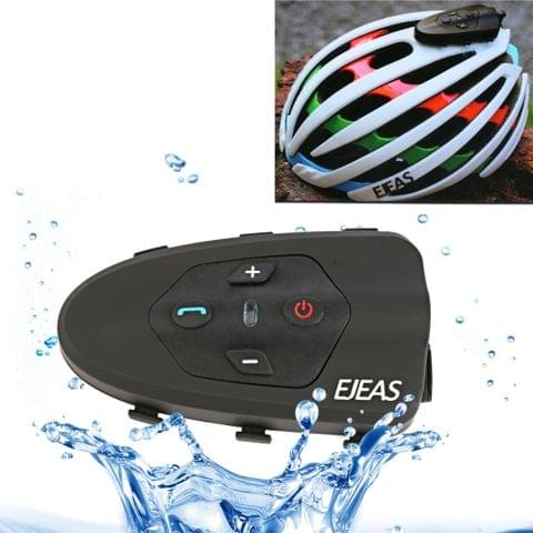 EJEAS Eagle 1200m IP65 Waterproof 2 Users Connection Riders Bluetooth Multi-Interphone Headsets for Bicycle Helmet, Support Listening Phone Call & Music & Navigation(Black)