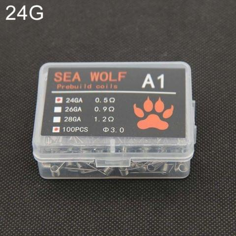 SEA WOLF A1 100 PCS / Box Electronic Cigarette RDA RBA RTA Wick Premade Coils 24GA DIY Heating Wire