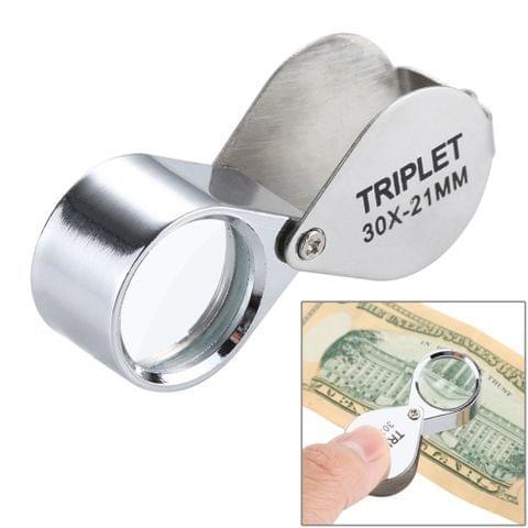 Mini Portable 30X Jewelry Magnifier(Silver)