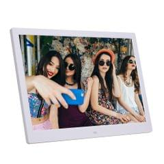 14-inch Digital Photo Frame Electronic Photo Frame Ultra-narrow Side Support 1080P Wall-mounted Advertising Machine(White)