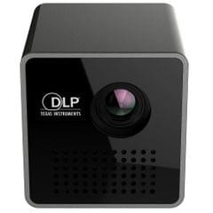 P1 5V 2A Output DLP Image System USB Charging LED Micro Projector Pocket Beamer Home Theater with Indicator light, Support TF Card(Black)