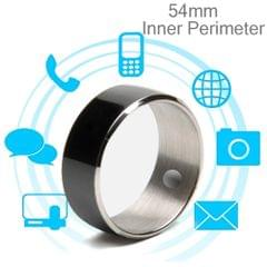 JAKCOM R3F Amorphous Titanium Alloy Smart Ring, Waterproof & Dustproof, Health Tracker, Wireless Sharing, Push Message, Inner Perimeter: 54mm(Black)