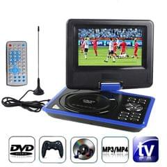 7.5 inch TFT LCD Screen Digital Multimedia Portable DVD with Card Reader & USB Port, Support TV (PAL / NTSC / SECAM) & Game Function, 180 Degree Rotation, Support SD / MS / MMC Card (Blue)