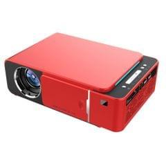 T6 3500ANSI Lumens 1080P LCD Technology Mini Portable HD Theater Projector, Support HDMI, AV, VGA, USB(Red)