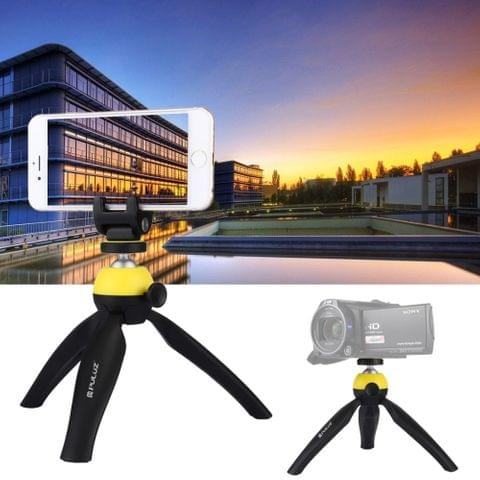 PULUZ Pocket Mini Tripod Mount with 360 Degree Ball Head & Phone Clamp for Smartphones(Yellow)                                               ()