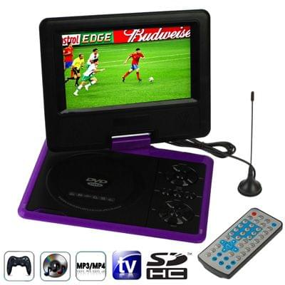 NS-758 7.5 inch TFT LCD Screen Digital Multimedia Portable DVD with Card Reader & USB Port, Support TV (PAL / NTSC / SECAM) & Game Function, 270 Degree Rotation, Support SD / MS / MMC Card (Purple)