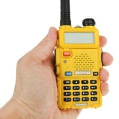 BAOFENG UV-5R Professional Dual Band Transceiver FM Two Way Radio Walkie Talkie Transmitter(Yellow)
