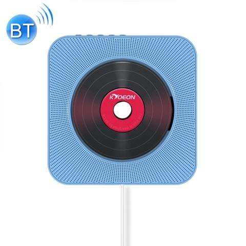 KC-808 Wall Mounted Bluetooth 4.2+EDR CD Player with Remote Control, Support FM(Blue)