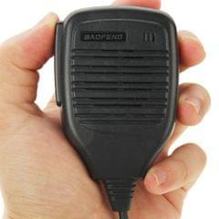 Clip-on Speaker Microphone for Walkie Talkies, 3.5mm + 2.5mm Earphone + Mic Plug(Black)