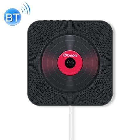 KC-808 Wall Mounted Bluetooth 4.2+EDR CD Player with Remote Control, Support FM(Black)