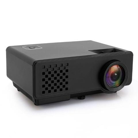 RD-810 800*768 1200 Lumens Mini LED Projector HD Home Theater with Remote Controller ,Support USB + VGA + HDMI + AV (Black)