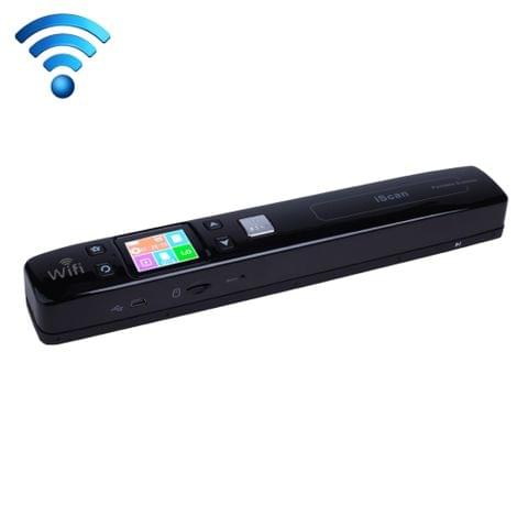 iScan02 WiFi Double Roller Mobile Document Portable Handheld Scanner with LED Display,  Support 1050DPI  / 600DPI  / 300DPI  / PDF / JPG / TF(Black)