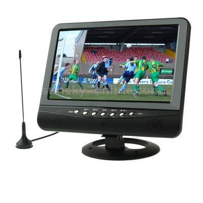 NS701 7.5 inch TFT LCD Color Analog TV with Wide View Angle, Support SD/MMC Card, USB Flash Disk(Black)