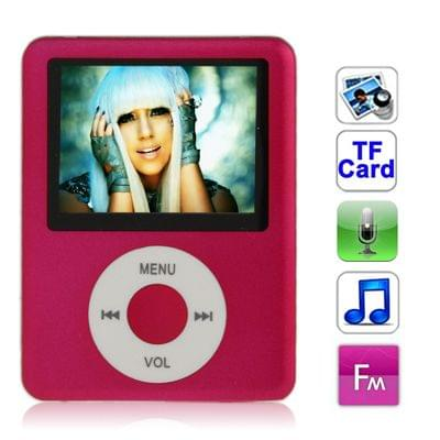 1.8 inch TFT Screen MP4 Player with TF Card Slot, Support Recorder, FM Radio, E-Book and Calendar(Magenta)