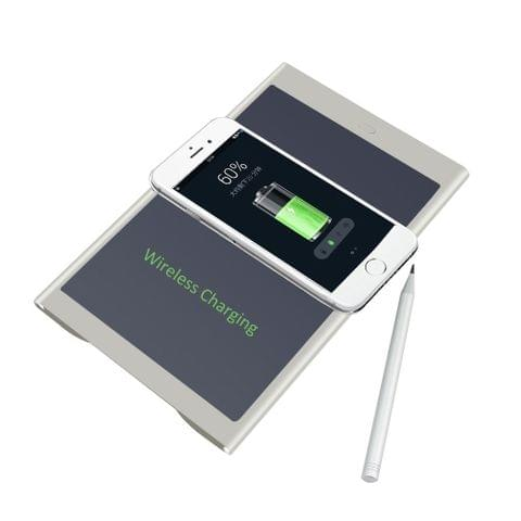 CHUYI DZ0073 Multi-function Hand Pad Wireless Charging Pad LCD Mobile Power Supply Tablet(White)