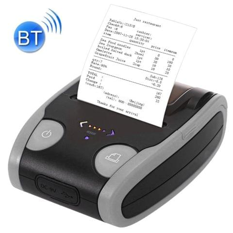 QS-5806 Portable 58mm Bluetooth POS Receipt Thermal Printer(Grey)