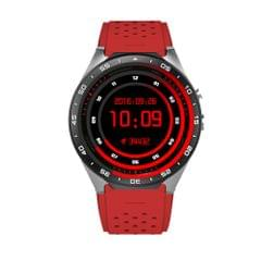 KW88 1.39 inch AMOLED Screen Bluetooth 4.0 Android 5.1 OS MTK6580 Quad Core 1.3GHz Waterproof Smart Bracelet Watch Phone with Heart Rate Monitor & Pedometer & Custom Watch Interface & Nano SIM Card Slot & Remote Camera & Anti-lost Function, RAM: 512MB, ROM: 4GB(Red)