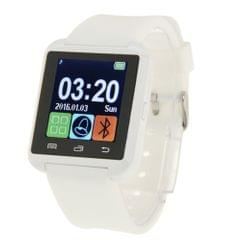 U80 Bluetooth Health Smart Watch 1.5 inch LCD Screen for Android Mobile Phone, Support Phone Call / Music / Pedometer / Sleep Monitor / Anti-lost(White)