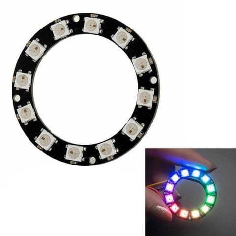 LDTR - Y00012 WS2812B 5050 LED Smart RGB Ring 50mm 12 Bit for Arduino -  Black