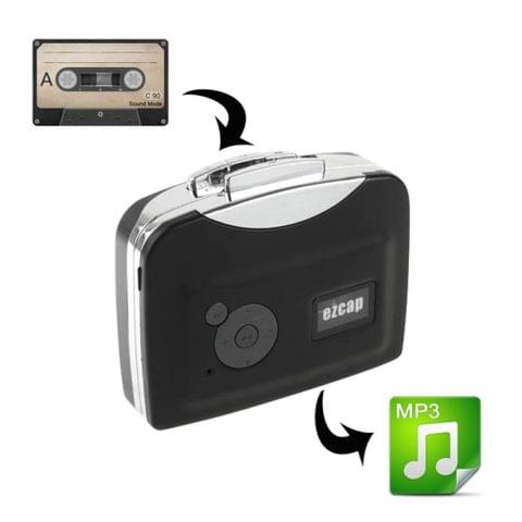 Ezcap 230 Cassette Tape to MP3 Converter Capture Audio Music Player(Black)	    		        	