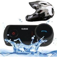 2 Sets EJEAS E2-1200 1200m IP65 Waterproof 4 Users Connection Riders Bluetooth Multi-Interphone Headsets for Motorcycle Helmet(Black)