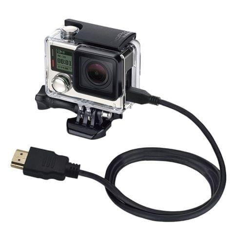 PULUZ Video 19 Pin HDMI to Micro HDMI Cable for GoPro HERO4 /3+ /3, Sony, LG, Panasonic, Canon, Nikon, Smartphones and Cameras, Length: 1.5m                                               ()