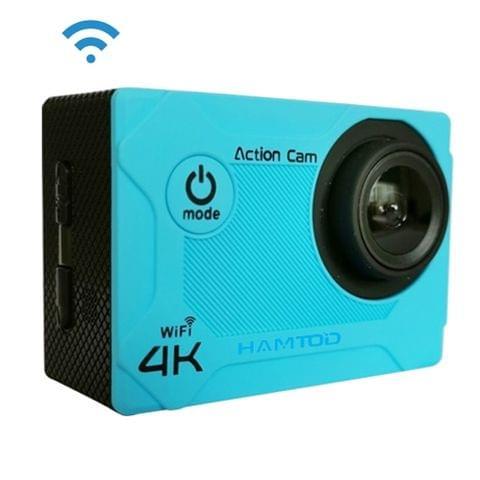 HAMTOD S9 UHD 4K WiFi  Sport Camera with Waterproof Case, Generalplus 4247, 2.0 inch LCD Screen, 170 Degree Wide Angle Lens (Blue)