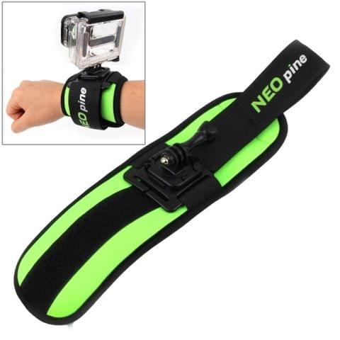 NEOpine GWS-5 Sports Diving Wrist Strap Mount Stabilizer 360 Degree Rotation for GoPro  NEW HERO /HERO6   /5 /5 Session /4 Session /4 /3+ /3 /2 /1, Xiaoyi and Other Action Cameras(Green)