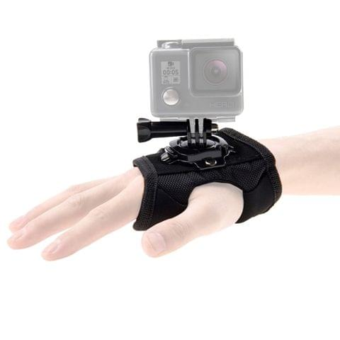PULUZ 360 Degree Rotation Glove Style Palm Strap Mount Band for DJI Osmo Action, GoPro NEW HERO /HERO7 /6 /5 /5 Session /4 Session /4 /3+ /3 /2 /1, Xiaoyi and Other Action Cameras	    		        	