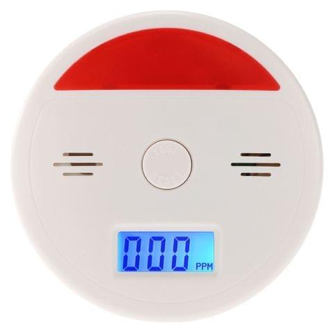 LCD CO Carbon Monoxide Alarm Sensor Poisoning Smoke Gas Tester Sound & Flash Warning Detector