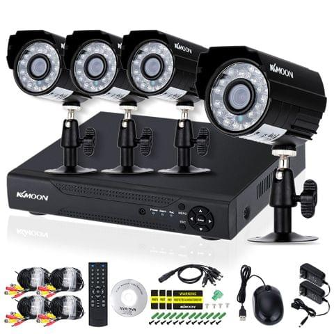 KKmoon 4CH Channel Full AHD 1080N/720P 1500TVL CCTV Surveillance DVR Security System