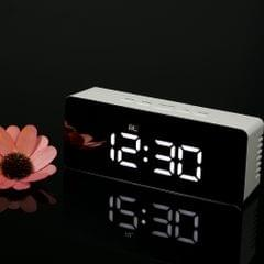 Digital LED Mirror Clock USB & Battery Operated Alarm Clock
