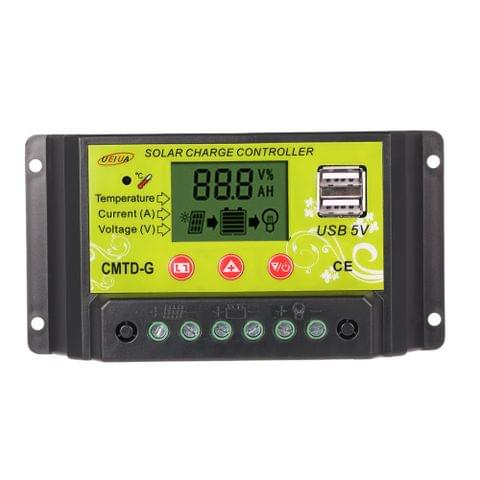 20A 12V/24V Multi-functional PWM Solar Charge Controller with LCD Display Auto Regulator Solar Panel Battery Lamp Overload Protection
