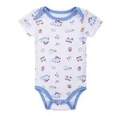Baby Rompe Bodysuit 100% Cotton Short Sleeve Unisex Newborn Baby Clothing 0-3M