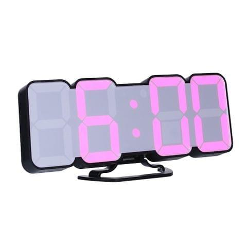 3D Wireless Remote Digital RGB LED Alarm Clock
