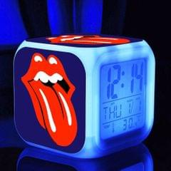 7 Changing Colo Multi-function LED Digital Alarm Clock Cube Glowing in the Dark Home Decor Famous Rock Band Girls Boys Style