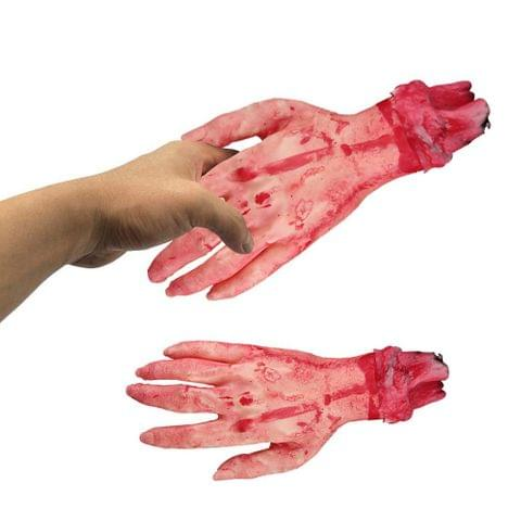 Terrible Severed Broken Hand Simulation Life-size