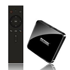 MECOOL KM3 RARE Smart Android 9.0 TV Box UHD 4K Media Player Amlogic S905X2 4GB / 128GB Voice Remote Control Google Certificated 2.4G / 5G WiFi BT4.0 Colorful Breathing Lights
