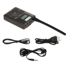 HanRongDa HDR-831 Portable Stereo Digital FM Transmitter Mini FM Radio Station Broadcast with Mic Audio Launch 500 Meters TF Card Slot AUX IN Microphone Input