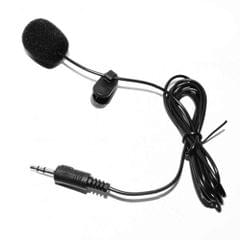 External Clip-on Lapel Lavalier Microphone 3.5mm Jack for Phone Handsfree Wired Condenser Mic for Teaching Speeching Black