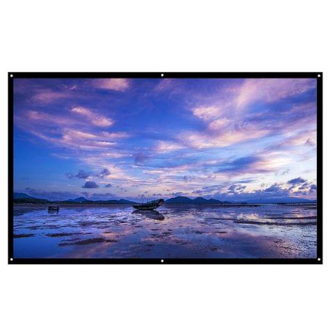 H100 16:9 100 Inch Portable Foldable Diagonal Projector Screen HD