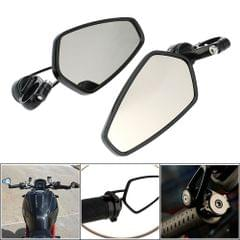 """Pair of Motorcycle Universal 7/8"""" Handle Bar End Rearview Mirror CNC Aluminum 360° Rotation Bracket Side View Mirrors"""
